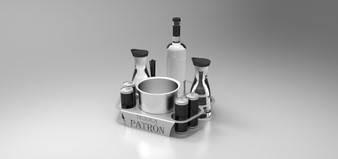 BOTTLE SERVING TRAY FOR YOU VIP SERVICE