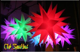 LED INFLATABLE  STAR NIGHTCLUB  DECORATION 31 spikes