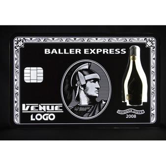 VIP BLACK CARD BOTTLE PRESENTER AMEX BOTTLE PRESENTER