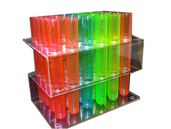 TEST TUBE RACK, TEST TUBE, 24 HOLE RACK, ACRYLIC RACK, SHOOTER, TOOTERS, SHOTZ