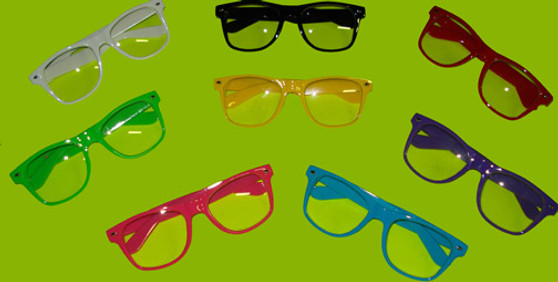 wayfarer, clear, lens, glasses, shades, retro, bar, events, conferences, party, club, lounges, raves