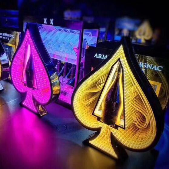LED  BOTTLE PRESENTER SPADE  ACE 2.0