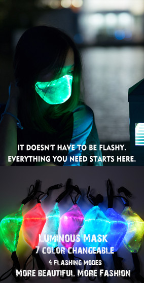 LED MASK - FIBER OPTIC MASK - LIGHT UP MASK