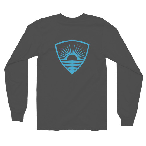 This long-sleeved shirt is made of the ultra-smooth American Apparel cotton, and it has comfy long sleeves to protect you from the elements. The sleeves are cuffed at the hand for a tapered look that adds a little flair. • 100% cotton (heather grey has 10% polyester) • Long sleeves • Cuffed hands • Durable ribbed neckband • Double stitched  Size guide   	S	M	L	XL	2XL Chest (inches)	34-36	38-40	42-44	46-48	48-50 Waist (inches)	30-32	32-33	33-34	36-38	40-42