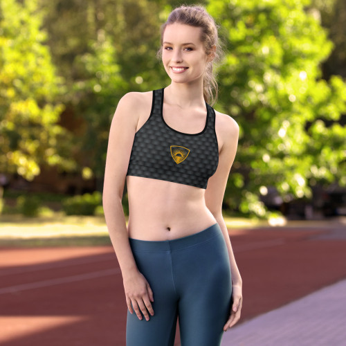 Get the perfect bra for your workouts! This comfy bra has a soft moisture-wicking fabric, extra materials in shoulder straps, and removable padding for maximum support. • 82% polyester, 18% spandex • Sports mesh lining: 92% polyester, 8% spandex • Padding: 100% polyurethane perforated foam and 100% polyester moisture-wicking fabric • Scoop neckline and racerback • Flat seams and bias binding that eliminate rubbing • Support material in shoulder straps and a wide elastic under breasts • Best for A–C cups • Mesh lining with slits for removable pads • Removable pads included • Four-way stretch material that stretches and recovers on the cross and lengthwise grains  Size guide   XSSMLXL2XL Bust (inches)33 ⅛34 ⅝36 ¼39 ⅜42 ½45 ⅝ Waist (inches)25 ¼26 ¾28 ⅜31 ½34 ⅝37 ¾