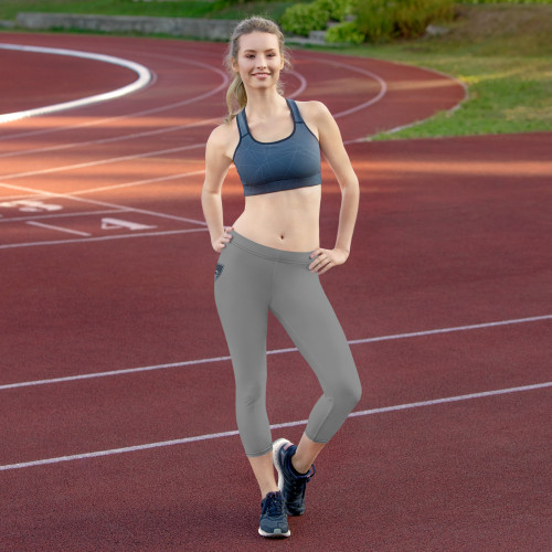 Super soft and comfortable capri leggings. • 82% polyester/18% spandex • Material has a four-way stretch, which means fabric stretches and recovers on the cross and lengthwise grains • Made with a smooth, comfortable microfiber yarn • Precision-cut and hand-sewn after printing  Size guide   XSSMLXL Waist (inches)25 ¼26 ¾28 ⅜31 ½34 ⅝ Hips (inches)35 ⅜3738 ⅝41 ¾44 ⅞