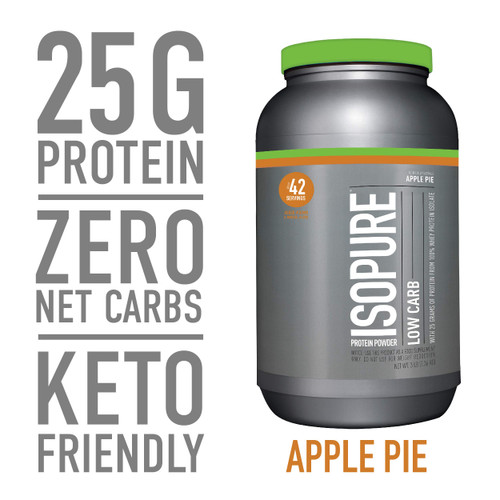 Brand: Isopure  Features:  100% WHEY PROTEIN ISOLATE - a high-quality protein source providing 25g per serving to support muscle ZERO/LOW CARB OPTIONS- helps for those watching their calorie intakes A PERFECT FIT - supports your active lifestyle and can be used post-workout, between meals, along with a healthy breakfast, or any time of day KETO- this protein powder can help support your ketogenic macros Gluten & Lactose Free  Publisher: GLANBIA PERFORMANCE NUTRITION, INC  Release Date: 25-02-2019  Details: Pack in high-quality protein, without packing on the carbs. Just pick your level: Zero Carb or Low-Carb (which also has ZERO sugar), both with 25 grams of 100% pure whey protein isolate per scoop and added vitamins and minerals-to help you perform at your peak. It's made with naturally occurring and added glutamine-and always without gluten, lactose or fillers. Available in a wide range of flavors so you can mix up some seriously tasty and dynamic recipes.  UPC: 89094024888  EAN: 89094024888