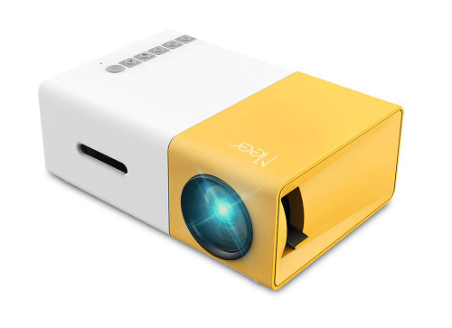 Brand: Meer  Color: Yellow  Features:  SMALL & COMPACT: This pocket size projector is only 11.9cmx8.6cmx4.8cm (0.29kg), not much bigger than your smart phone. You can take it anywhere in your purse, pack or pocket. ONLY IDEAL FOR HOME ENTERTAINMENT IN DARK CONDITION, NOT recommended for Power Point or business presentations.DOESN'T HAVE BLUETOOTH FUNCTION. POWERED BY A POWER BANK: The projector does not have its own battery, it needs a 5V/2A power source such as a wall charger or power bank. Great for travel, hiking and camping where there's no electricity or TV. Also popular with children. MULTI PORTS: The various multimedia ports such as USB/AV/SD slots enable you to connect about everything from smart phones, laptops(mac book not included), tablets, DVD players, game consoles and more. You can also show the video and photos on a USB flash drive, fire stick or micro SD. (To connect smartphones, a lightning to HDMI adapter, MHL to HDMI adapter is Needed, or a WIFI Network Adapter is needed.Not included in the package!) PERFORMANCE: 400 Lumens; Native resolution:320x240 pixels; Support resolution:1080P; Aspect ratio: 4:3 or 16:9; Projection distance: 1-3m; Projection size up to 60 inches. NOTE: not compatible with Dolby sound video! SERVICE:12monthProfessionalCustomerServiceSupport.Ifyouhaveproblemswiththeprojector,pleasefeelfreetocontactus.NOTE: NOT COMPATIBLE WITH MAC IOS SYSTEM and TO CONNECT IT TO YOUR SMART PHONE, A WIFI NETWORK ADAPTER OR HDMI CABLE IS NEEDED! NOT INCLUDED IN THE PACKAGE!  Publisher: Meer  Details: Features: - Full format video player: MP4, RMVB, AVI, RM, MKV, etc. Support multi-media (music, pic, video, txt) - Compact size, big wisdom: Its size is the same as a smart phone, but it has many interfaces. - New generation American Bridgelux LED light, power consumption is 10-24w. - Environmental protection & energy-saving, more than 20000 hours' lifetime, harmless to eyes. - A good assistant for children education at home, also an attractive toy 
