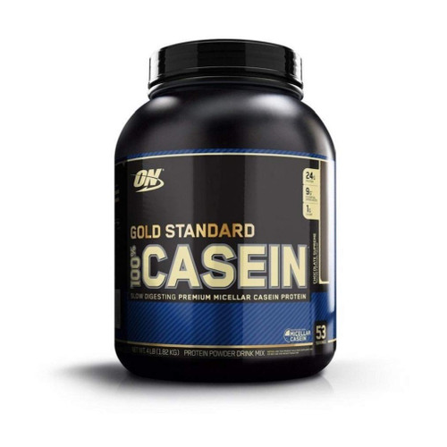 Brand: Optimum Nutrition  Features:  Casein not only supports muscle rebuilding, it may also help with weight management support by helping you feel fuller longer The Gold Standard for Slow-Digesting Protein, delivering 24 Grams of slowly digesting protein per serving that is best used between meals or before bed Each Serving of Gold Standard 100% Casein provides nearly 5 Grams of Naturally Occurring BCAAs and is an Excellent Source of Calcium Frequently purchased with Gold Standard 100% Whey, Platinum Hydrowhey, and Creatine 5 grams of naturally occurring glutamine and glutamic acid per scoop  Publisher: Optimum Nutrition  Details: Faster digesting protein is desirable immediately before and after exercise to help refuel recovering muscles, but slow digestion and absorption may be more beneficial at other times including bedtime when your body typically goes for hours without food. Casein products are acid sensitive and thicken in the stomach. Compared to some other proteins, it can take longer for our GOLD STANDARD 100% Casein to be broken down into its amino acid subcomponents. By using only premium micellar casein as a protein source, we've created a formula that sets the standard for slow digesting protein support.  UPC: 748927024227  EAN: 748927024227