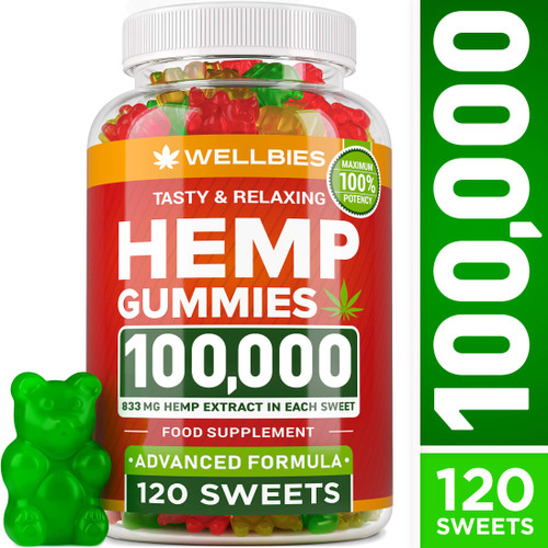 Brand: WELLBIES  Features:  FUN & TASTEFUL RELIEF - Finest stress & anxiety management you can find! With Wellbies 100,000mg any therapy will be full of joy! Time to make the right choice with all-natural amazingly effective gummies. An attractive shape & delicious taste! Ditch your bitter tablets & pills for these yummy gummies. Add some fun to your treatment! An ideal choice for excellent health! DELICIOUS IMPROVEMENT - Combine USEFUL with DELICIOUS. Natural hemp extract oil may relieve stress, inflammation, anxiety, depression, and nausea. An efficient natural alternative to addictive pills - not addictive or toxic BUT even more efficient! The tastiest & most pleasant way to support your lifestyle. SAFE & POWERFUL SUPERFOOD - Get 100,000mg of premium hemp extract gummies for the price of a 1000mg! Experience the full potential of pure & potent ingredients provided to you by nature! It may sharpen your brain functions, attention, support the immunity, maintain the healthy skin, hair & nails! Get the sleep you need & feel refreshed! Enjoy every single moment with our help! PACKED WITH THE GOOD STUFF - Loaded with essential nutrients! Omega 3, 6 & 9, ALL Amino acids, Digestive Enzymes & Vitamins! Not less important is what's not in our gummies! Dairy-free! Allergen-free! Gluten-free! Soy-Free! Non-GMO! An amazing nutritious base for gummy deliciousness & health improvements inside and out! TRUSTWORTHY HEMP GUMMY BEARS - Proudly made in the USA. Strict safety & quality control - only the highest quality products to reach our customers' expectations. If you are not completely satisfied - contact us for a full refund. Yummy TASTING & RELAXING!  Publisher: Wellbies  Details: Wellbies Hemp Seed Oil Gummies  UPC: 721535927623  EAN: 721535927623
