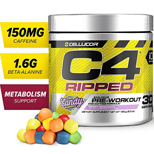 Brand: Cellucor  Features:  America's #1 Pre-Workout Brand 150mg of Caffeine Per Serving 0 Sugar, 0 Calories, and 0 Carbs Per Serving C4 Ripped Weight Loss Blend 1.6g CarnoSyn Beta-Alanine  Publisher: Cellucor Nutrition  Release Date: 28-05-2018  Details: C4 Ripped supports energy, pumps, and performance, but also features a powerful cutting formula with L-Carnitine, Capsimax Cayenne extract, and additional ingredients to help support your fat-loss efforts. C4 Ripped contains 150mg of caffeine for pre-training energy.