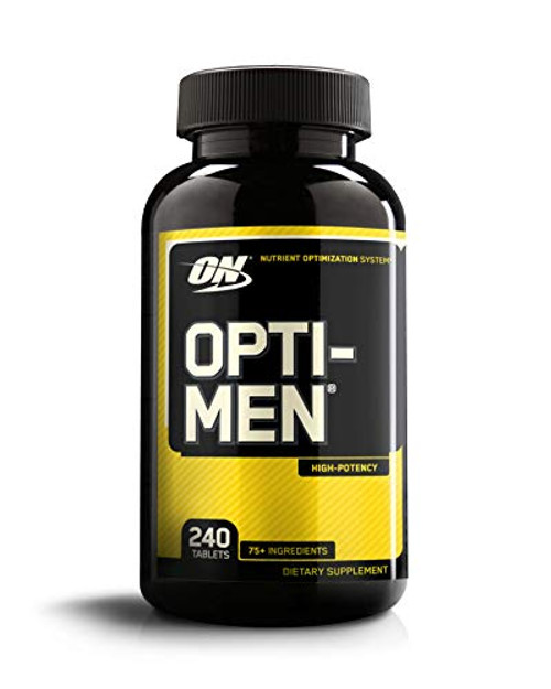 Brand: Optimum Nutrition  Color: Opti-men  Features:  Vitamin C, Vitamin D and Zinc Provide Immune Support along with Vitamin E High potency multivitamin for active men. 75+ ingredients in 4 performance blends. 25 vitamins & essential minerals and 1 gram of free form amino acids, 1,500 iu of vitamin d We are aware that some consumers have reported product crumbling when opti men tablets are removed from the original container and put into pill carrying cases. The product is safe to consume. The crumbling is due to excess exposure to moisture in the environment when put into the pill carrying cases. There have been isolated reports of crumbling in original bottle as well. We are implementing changes to increase the integrity of the tablet when stored in all containers. You may notice a change in a color of the tablet as a result We recommend that the product be stored in the original container and kept in a cool, dry place. Be sure to put lid on tight and do not leave containers open for extended time At optimum nutrition, we take quality and customer satisfaction very seriously. If you are not satisfied with opti men for any reason, please contact on consumer affairs at consumer@optimumnutrition.Com Take 3 tablets daily with meals Optimum nutrition also offers a very popular opti women multi vitamin, a high potency multi vitamin for active women  Publisher: Optimum Nutrition  Release Date: 19-08-2014  Details: *These statements have not been evaluated by the Food and Drug Administration. This product is not intended to diagnose, treat, cure or prevent any disease.