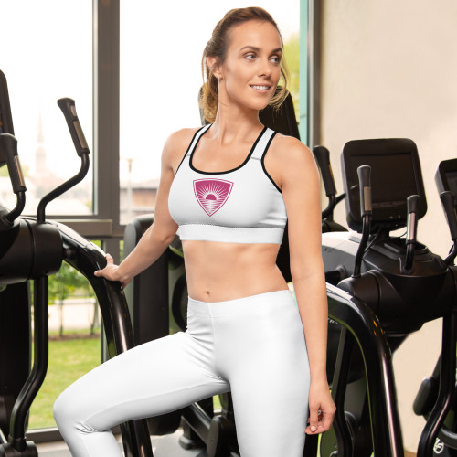 This gorgeous sports bra is made from moisture-wicking material that stays dry during low and medium intensity workouts. The bra has support material in the shoulder straps, double layer front, and a wide elastic band to ensure constant support. • Available in sizes XS-2XL • 82% polyester, 18% spandex • Moisture-wicking fabric • Four-way stretch material stretches and recovers on the cross and lengthwise grains • Scoop neckline and racerback • Flat seams and bias binding that eliminate rubbing • Best for A-C cups • Support material in shoulder straps, double layer front, and a wide elastic under breasts  Size guide   XSSMLXL2XL Bust (inches)33 ⅛34 ⅝36 ¼39 ⅜42 ½45 ⅝ Waist (inches)25 ¼26 ¾28 ⅜31 ½34 ⅝37 ¾