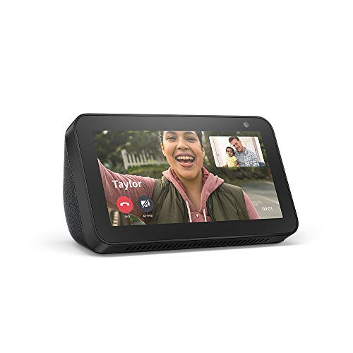 "Brand: Amazon  Color: Charcoal  Features:  Compact 5.5"" smart display with Alexa ready to help Manage calendar, make to-do lists, get weather and traffic updates, cook along with recipes. Watch movies, TV shows, and your daily flash briefing. Listen to songs, radio stations, guided meditations, and audiobooks. Voice control compatible devices or manage them using the display. Voice or video call friends and family with compatible Echo devices, Alexa app, or Skype. Personalize by choosing a favorite clock face or album from Amazon Photos. Create routines and alarms to start and end your day. Control your privacy with the mic/camera off button or the built-in camera shutter.  Publisher: Amazon  Details: Echo Show 5 connects to Alexa to give you vivid visuals on a 5.5"" screen with a crisp full sound—all in a compact design that fits in any room, in any home.  Release Date: 26-06-2019"