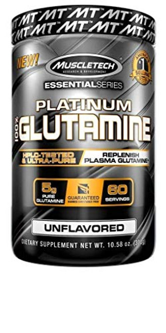 Brand: MuscleTech  Color: Glutamine  Features:  Pure HPLC tested L glutamine Powder at a better value than competitors 5 grams per serving Supports increased cell volume, protein synthesis and glycogen replenishment Non stimulant formula stacks perfectly and can be take anytime stack with vitamins, creatine, BCAAs and other supplements Replenishes L glutamine, the most abundant amino acid in the body, supports immune function Flavorless and dissovles instantly; perfect for mixing with pre workout, post workout and protein powder Note: The manufacturer has rebranded MuscleTech Glutamine, 100 percent Ultra Pure L Glutamine, 60 Day Supply, 10.58 ounce (302 gram) with a change in label; The product itself remains the same; You may receive either the original or revised label  Publisher: MuscleTech  Details: MuscleTech 100% Glutamine supplies 5g of L-glutamine per serving, which works to rapidly replenish the L-glutamine used during training. Glutamine is the most abundant non-essential free amino acid in your body and your muscles are especially high in glutamine, making it extremely important for muscle metabolism. When you're training hard, your muscles can lose up to 50% of their glutamine stores, so you need to replace them – fast! This flavorless and odorless formula stacks and mixes easily with creatine, BCAAs, pre workout powders, and protein powders like whey protein and whey protein isolate!  Release Date: 26-10-2014