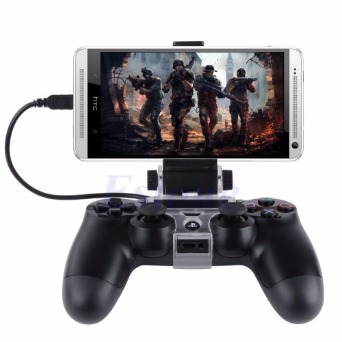 Brand Name: OOTDTY Compatible Brand/Model: Sony SONY Model: PLAYSTATION4 Model Number: Mobile Phone Clamp For PS4 Controller Color: black  Description:  100% brand new and high quality Features: It can connect and roid phone with For PS4 controller convienently, and you will have more intereating game experience The telescopic clamp design, the maximum compatible with 6 inches of mobile phone(The width of 88mm below) The angle adjusting function, adjusting the angle up to 180 degrees, the player can be adjusted to their most comfortable angel to playing game For convenient using,, you can put the clamp and the controller speration used as mobile phone stand Specification: Fit for PS4 Playstation 4 Controller Compatible for Android phone, such as For Samsung Galaxy S4 S5 Note4, LG G3 , For HTC one, Sony Xperia.etc Adjust length up to max. 88mm Material: plastic Size: app.8cmx6.5cmx4.5cm/3.14''x2.55''x1.77'' Cable length: app.27.5cm/10.82'' Color: As the pictures shown Quantity: 1 Pc Note: 1.Please allow 1-3mm error due to manual measurement. pls make sure you do not mind before you bid.         2.Due to the difference between different monitors, the picture may not reflect the actual color of the item. Thank you!  Package includes:  1 x Mobile Phone Clamp For PS4 Controller(Clamp Holder ONLY. Phone and Controller not included) 1 x Micro USB Cable