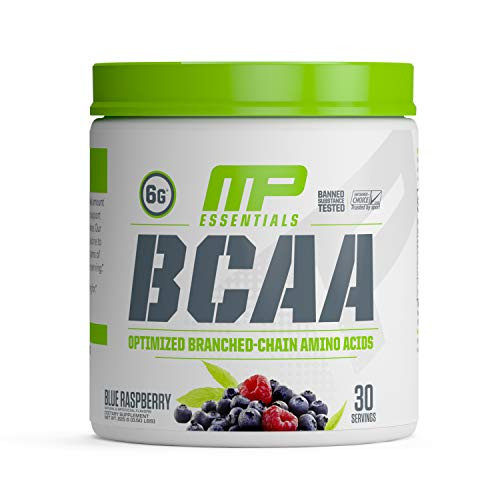 Brand: Muscle Pharm  Color: Blue Raspberry  Features:  BCAA 3:1:2 PATENT-PENDING RATIO: MusclePharm BCAA Powder offers a unique patent-pending amino acid blend—3 leucine, 1 isoleucine, 2 valine—that delivers the ideal amounts of these three proteins through the body. SUPPORTS LEAN MUSCLE MASS: MP Essentials BCAA post-workout powder promotes muscle development and maintenance while supporting lean muscle mass and reducing muscle breakdown. CONVENIENT POWDER FORM: This BCAA powder mixes easily with water and contains zero calories, zero carbohydrates, and zero grams of sugar. It's sold in a delicious blue raspberry flavor. BANNED-SUBSTANCE TESTED: We care about the products you put into your body. MusclePharm BCAA post-workout powder is banned-substance tested and certified by Informed-Choice. 100% MONEY-BACK GUARANTEE: All MusclePharm products are backed by a 30-day full money-back guarantee.  Publisher: Muscle Pharm  Details: An OPTIMIZED BCAA ready to deliver. MusclePharm BCAA delivers the ideal amount of branched-chain amino acids to support muscle development and maintenance. Our clinically-studied 3-1-2 ratio of Leucine to Isoleucine to Valine provides 6 grams of branched-chain amino acids per serving. Give your body what its been asking for  Release Date: 05-02-2014