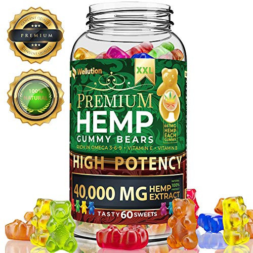Brand: WELLUTION  Features:  FUN & DELICIOUS ALTERNATIVE - You surely won't forget taking one of these daily! Ditch your bitter hemp tablets and pills for these yummy edibles. It tastes great and smells oh so good! NUTRENT-RICH TREAT - Nothing beats the health benefits of pure and organic supplements. Our natural hemp gummies are loaded with Vitamins E and B as well as Omega 3, 6 and 9 fatty acids. STIMULATES BRAIN FUNCTION – Enhance your productivity with more focus and better memory. Hemp oil has the natural ability to help your brain work more efficiently and improve your attention to details. RELIEF FOR DISCOMFORTS - What a tasty way to relieve headaches, muscle spasms, nausea and inflammation! Each chewy piece is formulated to re-energize you while numbing any ache or uneasiness you may feel. FEEL CALM & GREAT - Feeling down and blue? Instead of resorting to ice cream or wine, take one gummy hemp candy. It helps to relax and calm, and promotes positive feelings and emotions.  Publisher: WELLUTION  Details: Do you dread taking bitter pill or capsule supplements? There is no fun in swallowing supplements, especially when they remind you so much of medicine. Even as adults, we all want something that is sweet and easy to consume. Unfortunately, some skip taking their pills just to avoid the unpleasant smell and taste. It is easier, yes, but your mind and body miss out on the benefits they could offer. Enjoy yummy-as-candy supplements with Hawaiian Health Natural Hemp Gummies! Gummy has been in existence since the 1960s. Although it isn't necessarily a new product, it sure is one candy that has maintained its status as a favorite among kids and adults alike. Since gummy is an all-time fave, we decided to make our supplements look, smell and taste like it! We infused hemp oil and gummy candy to create nutritional and therapeutic chews adults who are young at heart will love! Concentrated oil is not something everyone is fond of, so our yummy edibles are your next best choice. Hemp gummies are rich in essential vitamins and fatty acids that aid in enhancing your mind and body functions. They help remove stress, relieve pain and ease discomfort. Gummies with hemp can also make you better at focusing on your tasks and remembering important things. Imagine how much you benefit just by chewing one sweet gummy a day! Other noteworthy reasons to take Hawaiian Health Natural Hemp Gummies: