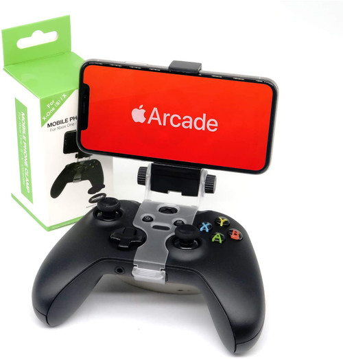 Brand Name: Knotolus Compatible Brand/Model: Microsoft MicroSoft Model: Xbox One Model Number: YXWXBOXONE024 Color: Black Package: Yes  Cellphone Mount Adjustable Mobile Phone Bracket Holder Smartphone Clamp Gaming Clip for Xbox On e(S) Game Controller Gamepad    Description:   The telescopic Clamp design, the Maximum Compatible with 6 inches of mobile phone(The width of 88mm below) The angle Adjusting founction, adjusting the angle up to 180 degrees, the Players can be adjusted to the most comfortable angle to playing games For Convenient using, you can put the clamp and the controller separation used as mobile phone stand ​ Package included:   1 x mobile phone clamp(The xbox one x controller is not included)
