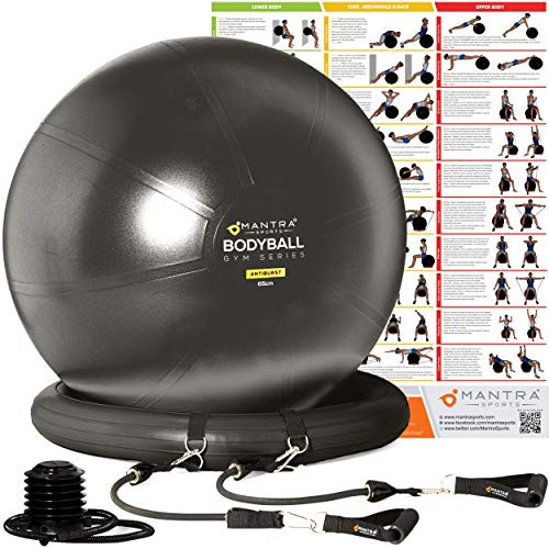 Brand: MANTRA SPORTSColor: BlackFeatures: ✅ WATCH OUR VIDEO! Scroll down & watch 'How To Set Up & Use The Mantra Sports BodyBall' & see why our swiss ball is recommended by physios, personal trainers & physical therapists to support flexibility, recovery & rehabilitation from knee or hip joint replacement surgery
