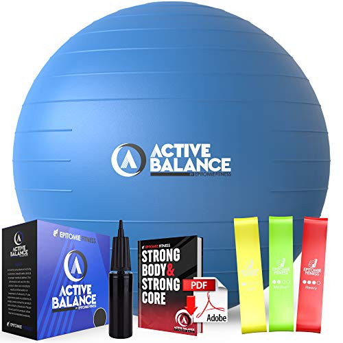 Brand: Epitomie FitnessColor: Ocean BlueFeatures: THE FITNESS BALL MADE FOR IT ALL – Fire up your physique, bring down back pain, pump up pregnancy comfort, and more with Active Balance II, your next-generation workout ball by Epitomie Fitness!SET FOR SUCCESS – Like you, your balance ball kit is the complete