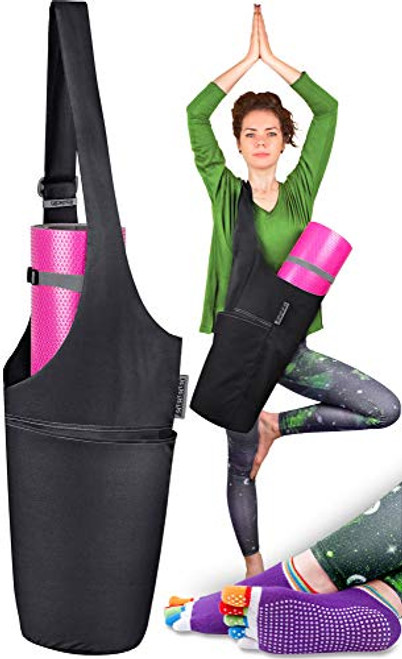 Brand: JambalaColor: I want this Midnight Black & Ash GrayFeatures: ☮ FITS ALL YOGA MATS – If storage space and organization are what you're after, Jambala Yoga Bag with Pockets is hard to beat. 3 convenient pockets help you keep all yoga accessories organized, while the ample interior of the yoga bag fits any kind