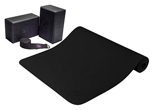 Brand: Clever YogaFeatures: GRIPPY NOT SLIPPY: wide yoga mat has reversible non-slip surfaces so you can perform any movement with confidence. Wavy underside stops workout mat from sliding on floor. The subtly textured surface prevents hands and feet from slipping out of position so you can hold poses no matter how