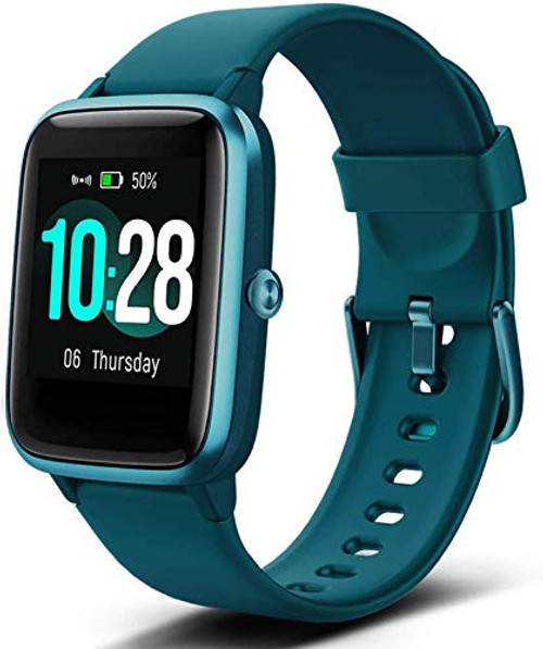 Brand: FitpoloColor: #4-greenFeatures: ⌚【Full Touch Color Screen & Adjustable Brightness】This fitness tracker watch has 1.3inch touchful screen, making it easy to operate; a design of adjustable screen brightness, making it quicker to view time, date and sports data clearly even under strong sunlight.