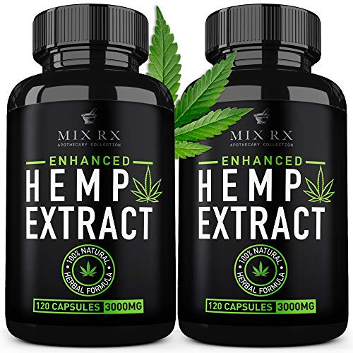 Brand: Mix RxFeatures: HEMP OIL CAPSULES THAT WORKS - Made with enriched hemp oil (50mg per serving) and loaded with healthy fatty acids Omega 3, 6, 9. All of our ingredients are naturally sourced and designed to work with your body and not against it. A truly premium edible organic full powderREDUCE ANXIETY - If you