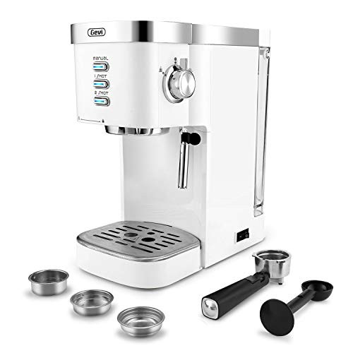 Espresso Machines Fast Heating Cappuccino Machine 20 Bar with Milk Frother for Espresso, Latte and Mocha, for Home Barista, 1.2 L Water Tank, Double Temperature Control System, Black, 1350W