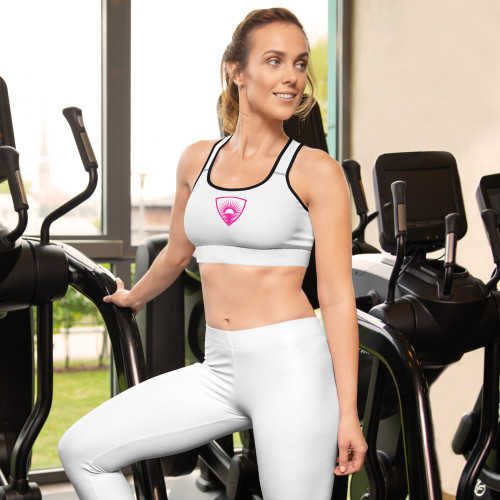 Defined Pink Padded Sports Bra