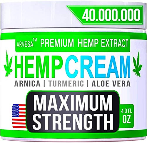 Instant Hemp Cream - Made in Usa - Relieves Muscle, Foot, Shoulder, Joints and Back - Natural Hemp Oil Extract Gel with Msm