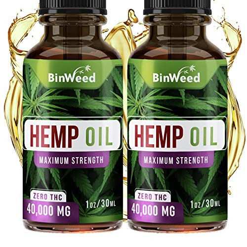 (2 Pack) Hemp Oil Extract (80,000MG) for Pain Relief