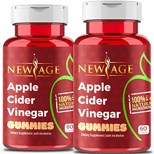 Apple Cider Vinegar Gummies by New Age - 2-Pack - 120 Count - Immunity & Detox