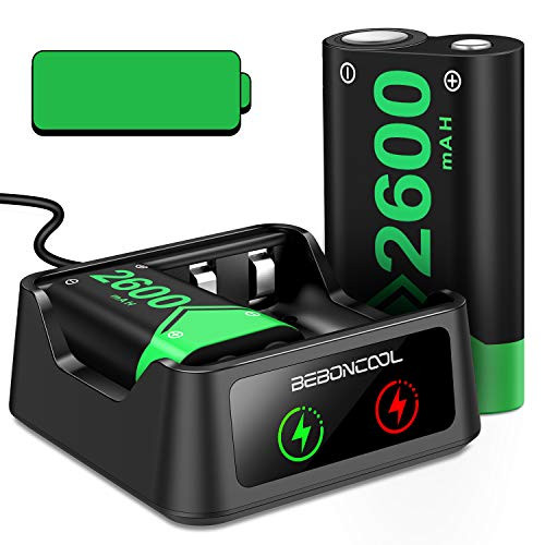 Rechargeable Battery for Xbox Series X|S/Xbox One Controller, 2x2600mAh Battery Pack Rechargeable with Station for Xbox One/One S/One X/Elite Controller, Controller Charger Station with Battery Pack