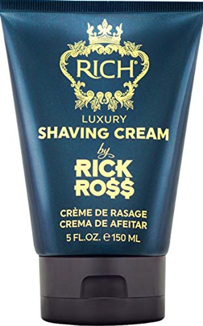 RICH by Rick Ross Luxury Shaving Cream For Men - Smooth Shave with Less Irritation - Gently Scented - Sulfate, Paraben & Mineral Oil Free, 5 Fluid Ounces
