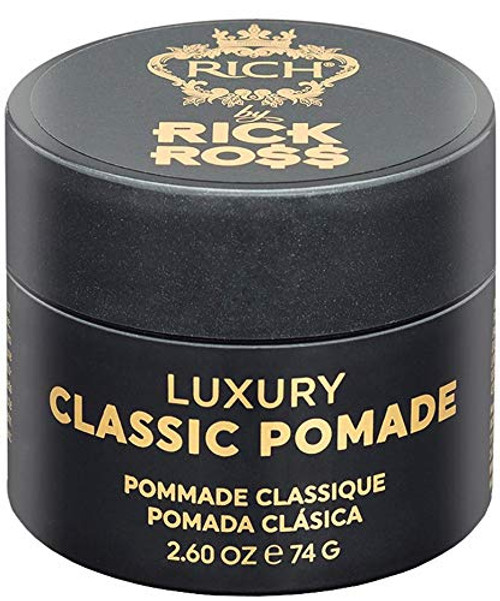 RICH by Rick Ross Luxury Classic Pomade for Men with All Hair Types - Hydrating & Moisturizing - High Shine, Medium Hold, Frizz Control, Gently Scented, 2.6 OZ