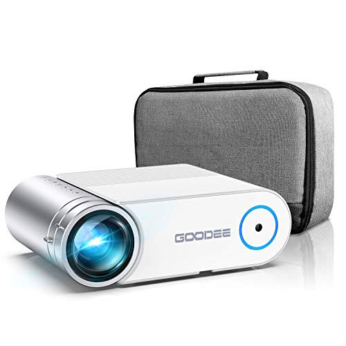 """2021 Upgrade G500 Mini Video Projector, 5500L Max 200"""" Portable Movie Projector with Carry Bag, Home Theater Projector Supports 1080P, Compatible with Fire Stick, PS4, Phone (YG420)"""