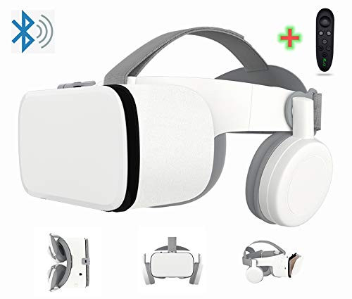3D Virtual Reality VR Headset With Wireless Remote Bluetooth