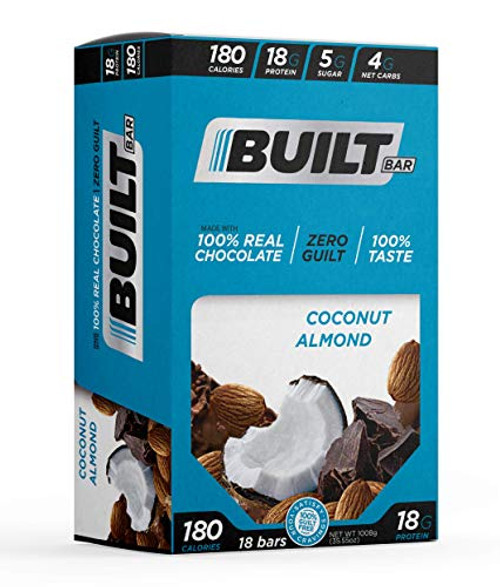 Built Bar 18 Pack Protein and Energy Bars