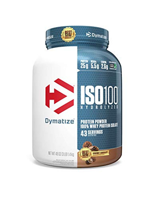 Dymatize ISO100 Hydrolyzed Protein Powder, 100% Whey Isolate Protein, 25g of Protein, 5.5g BCAAs, Gluten Free, Fast Absorbing, Easy Digesting