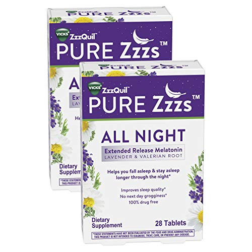 Zzzquil Pure Zzzs All Night Extended Release Melatonin Sleep Aid