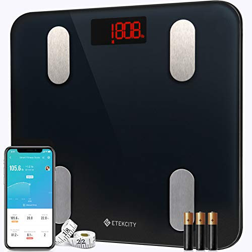 Etekcity Scales for Body Weight Bathroom Digital Weight Scale for Body Fat, Smart Bluetooth Scale for BMI