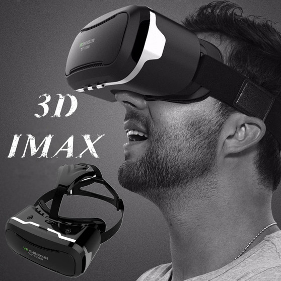 """3D VR Goggles/Headset, Virtual Reality Glasses for [3D IMAX] Movies Videos Games, Phone Box 360 Viewer for IOS iPhone X 8 7 6S 6 Plus Android Samsung S9 S8 S7 S6 Edge PC LG & Other 4.5-6.0"""" Smartphone"""