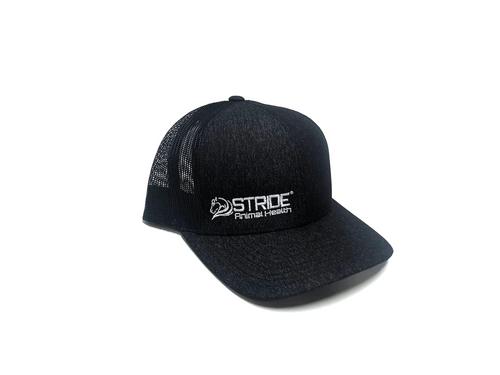 Solid black cap with mesh adjustable back
