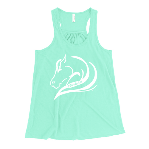 Bella Mint Tank with White #StrideAH horse on the front!
