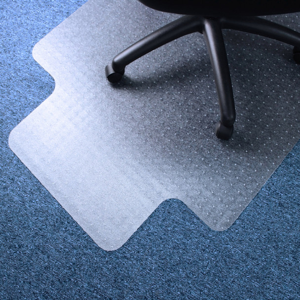 Lipped chairmat for low pile carpets