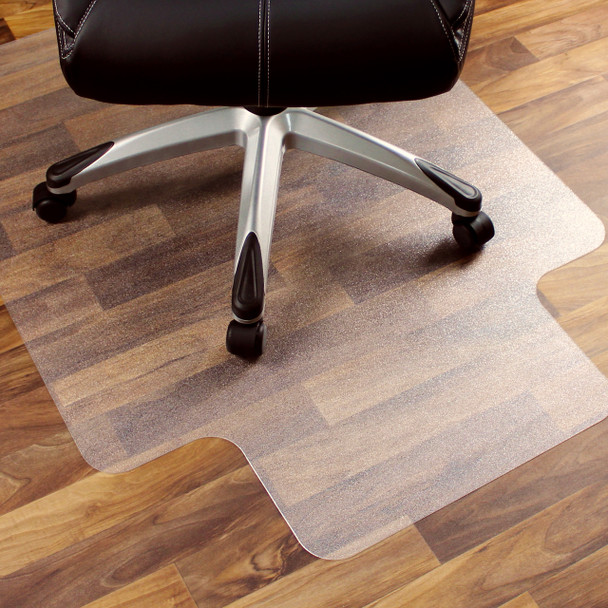Polycarbonate chair mats for hard surfaces and flooring
