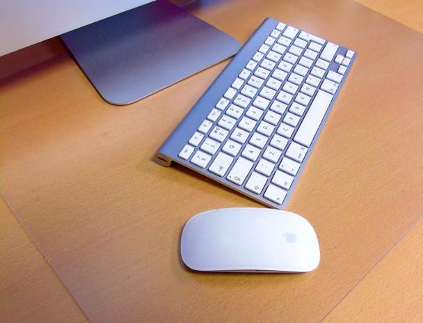 Desktex Polycarbonate Anti-Slip Desk Protector Mats - Pack of 4