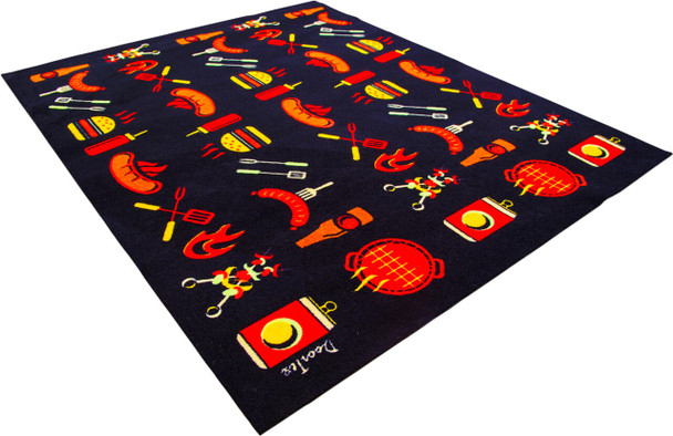 Doortex Fire Retardant and Flame Resistant Under Grill Patio Protector Mat with Cook Design